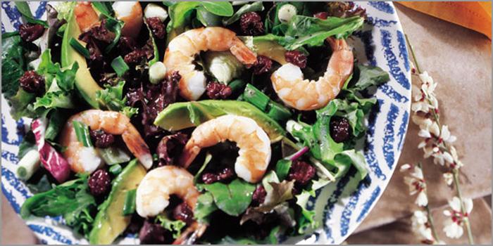 Shrimps-Salat mit getrockneten Montmorency Sauerkirschen