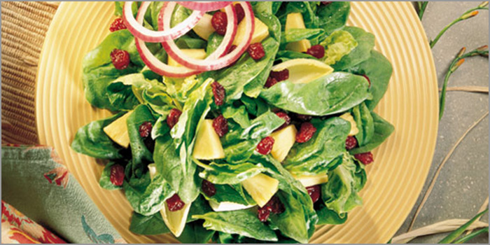 cherry marketing institut spinat salat mit montmorency kirschen. Black Bedroom Furniture Sets. Home Design Ideas